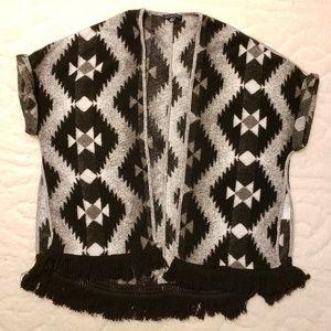 American Eagle Aztec print sweater poncho